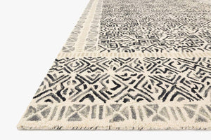 Black and Ivory Graphic Rug