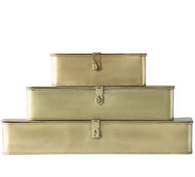 Load image into Gallery viewer, Set of 3 Brass Boxes