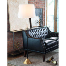 Load image into Gallery viewer, Brass and Black Floor Lamp