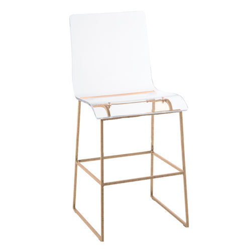 Lucite Counter Height Stool