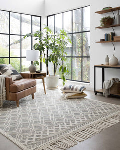 Black and White Geometric Rug