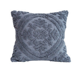 Gray Woven Looped Throw Pillows