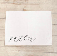 Load image into Gallery viewer, Calligraphy Placemat, Gather