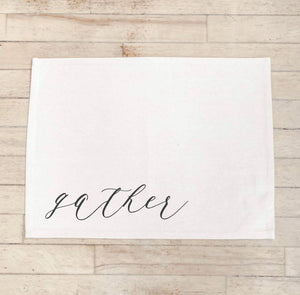 Calligraphy Placemat, Gather