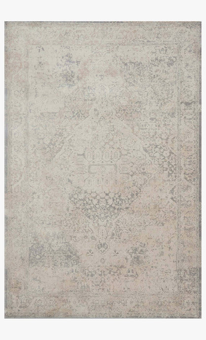Ivory and Gray Vintage Wash Rug