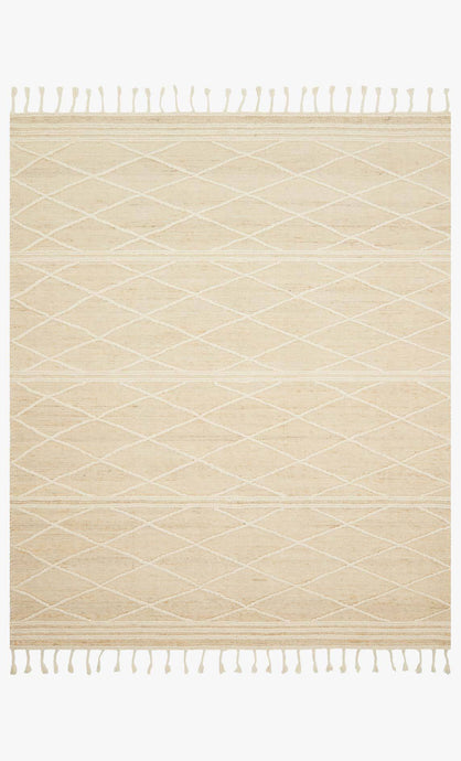 Ivory and White Textural Rug