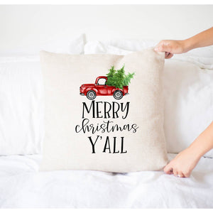 Merry Christmas Y'all Pillow Cover