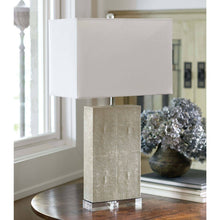 Load image into Gallery viewer, Ivory Shagreen Table Lamp
