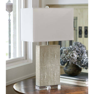 Ivory Shagreen Table Lamp