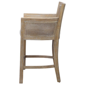 Cane Counter Stool