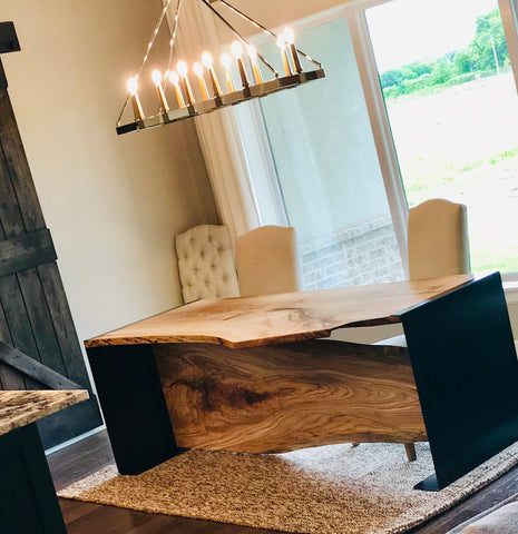 Live Edge Red Oak Dinner Table for St Jude's