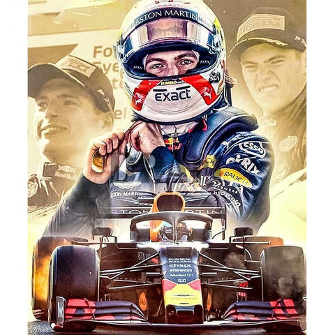 Formula 1 Race Car Driver | Sports Car Diamond Painting Kit | Full Round/Square Drill 5D Rhinestone Embroidery -Diamond Painting Kits, Diamond Paintings Store
