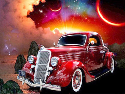 1933 Ford Eliminator | Sports Car Diamond Painting | Full Round/Full Square Drill 5D Rhinestones | DIY Diamond Kit | Expensive Fancy Automobile -Diamond Painting Kits, Diamond Paintings Store