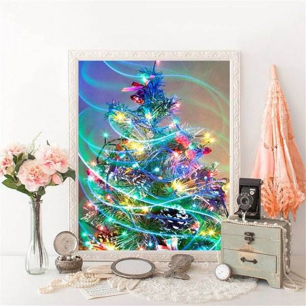 Color Christmas Tree, 5D Diamond Painting kit, Full Square -Diamond Painting Kits, Diamond Paintings Store