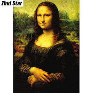 "New 5D DIY ""Mona Lisa"" Diamond Painting 