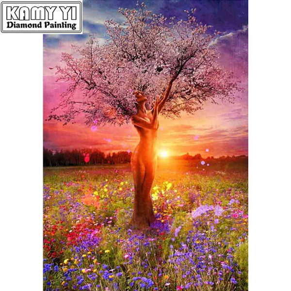 5D Diamond Painting,  People Tree -Diamond Paintings, Diamond Paintings Store