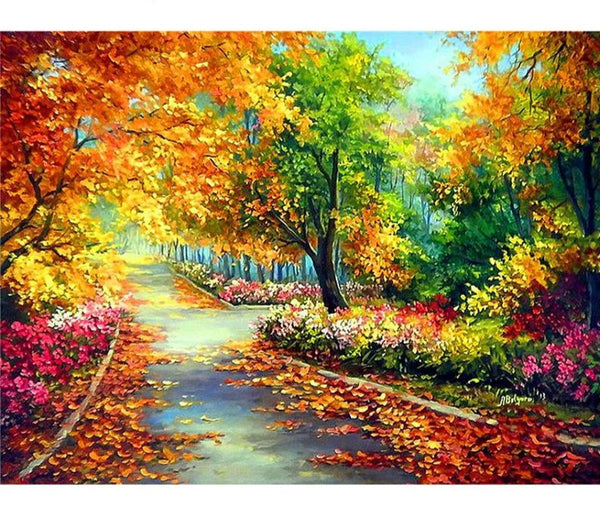 Autumn Stroll, 5D Diamond Painting Kit -Diamond Paintings, Diamond Paintings Store