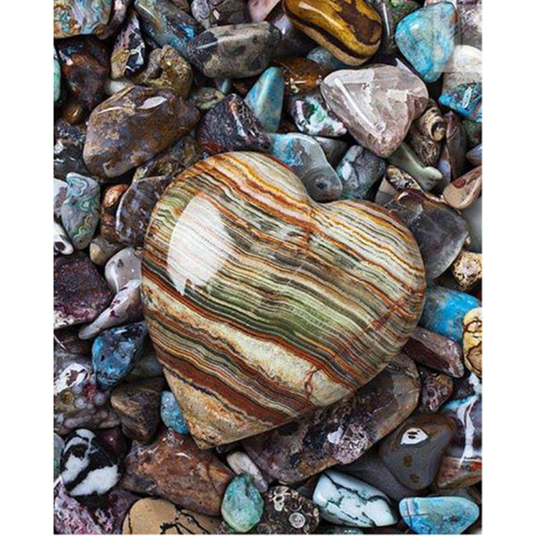 NEW - Heart-Shaped Stone Diamond Painting Kit, Cross Stitch Rhinestone -On Sale -Diamond Paintings, Diamond Paintings Store