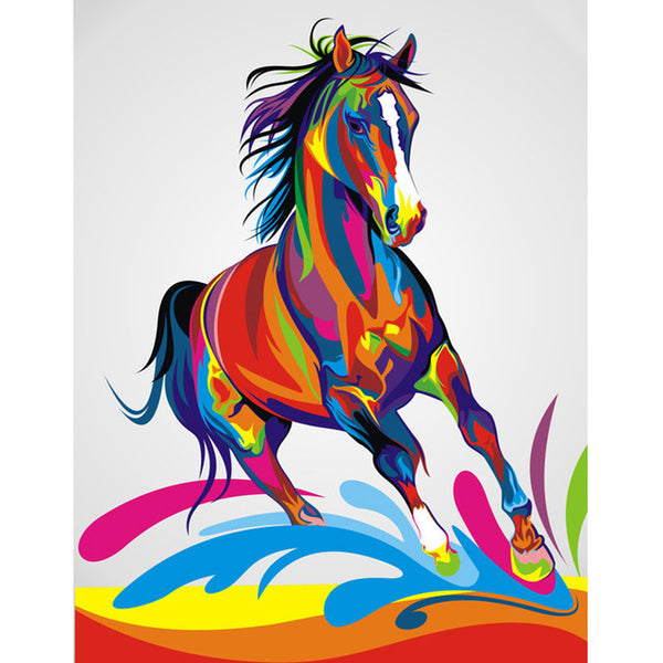 """Colorful Animals"" 3D Embroidery Cross Stitch -Diamond Painting Kits, Diamond Paintings Store"
