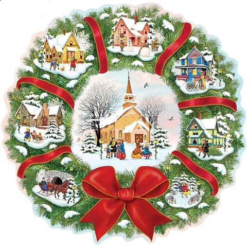 Christmas houses, Christmas Wreath Diamond Painting Kits (Round or Square) -Diamond Paintings, Diamond Paintings Store