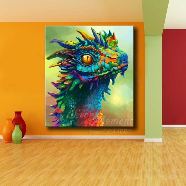 NEW, Color Dragon Head - Diamond Paintings -Diamond Paintings, Diamond Paintings Store