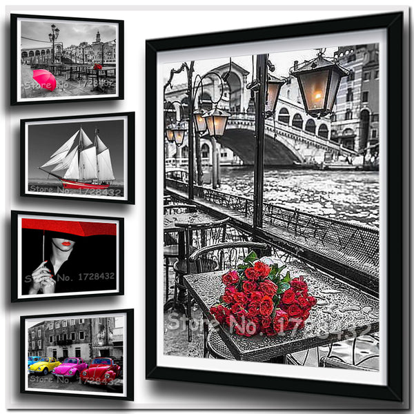 Black and White DIY 5D Diamond Painting Kits - On Sale -Diamond Paintings, Diamond Paintings Store
