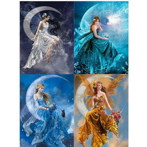 New Fairy Angels - 5D Diamond painting cross stitch -Diamond Painting Kits, Diamond Paintings Store