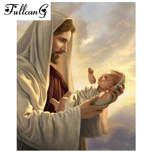 Jesus Loves His Children, Diamond Painting Kit -Diamond Paintings, Diamond Paintings Store