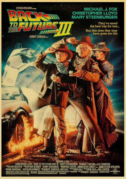 NEW- Retro Back to The Future Film Propaganda Kraft Poster - Diamond Paintings Store