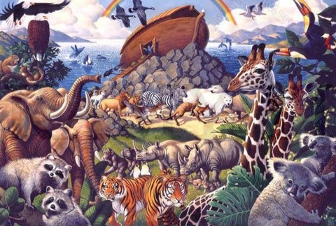 "Noah's Ark ""Animal World"" - 5D Diamond Painting Kit -Diamond Painting Kits, Diamond Paintings Store"