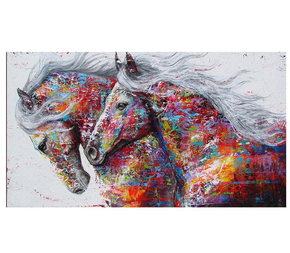 Bashful Horses Kits, Handmade Needlework -Diamond Paintings, Diamond Paintings Store