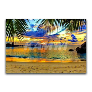 Summer Seaside,  Full Square Diamond Painting -Diamond Paintings, Diamond Paintings Store
