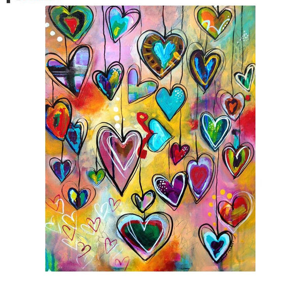 "5D Diamond Painting ""Hearts of Love"" -SALE -Diamond Paintings, Diamond Paintings Store"