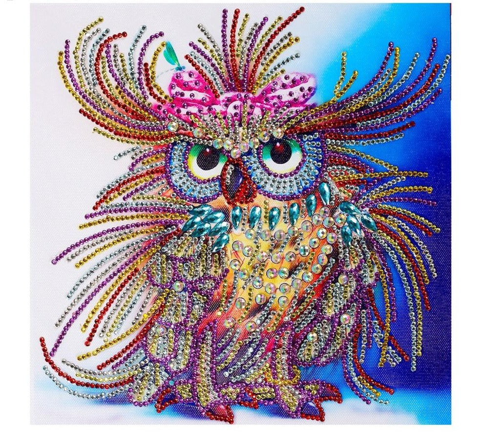 Diamond Painting Owl Handcraft Needlework -Diamond Paintings, Diamond Paintings Store