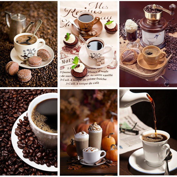 Coffee and Cookies DIY 5D Diamond Painting Kits.  Collect all 8 - ON SALE -Diamond Painting Kits, Diamond Paintings Store