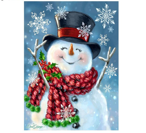 Diamond Painting, Merry Christmas Snowman -Diamond Paintings, Diamond Paintings Store