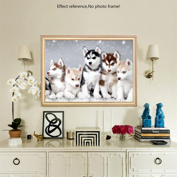 HUSKIES - 5D DIY Diamond Painting Kit -  Full Square Diamond Mosaic - On Sale -Diamond Paintings, Diamond Paintings Store