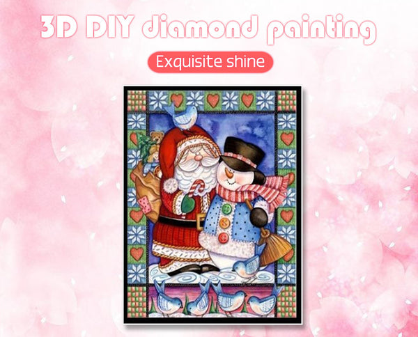 NEW Christmas Diamond Painting Mosaic, Santa Claus -Diamond Paintings, Diamond Paintings Store