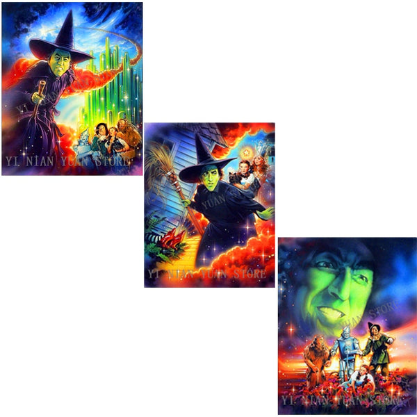 New Wizard of Oz 5D Diamond Painting, Full square/round Drill,  3 Designs -Diamond Painting Kits, Diamond Paintings Store