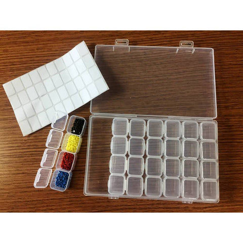 Diamond painting accessories storage box 12x28 grid -Diamond Painting Kits, Diamond Paintings Store