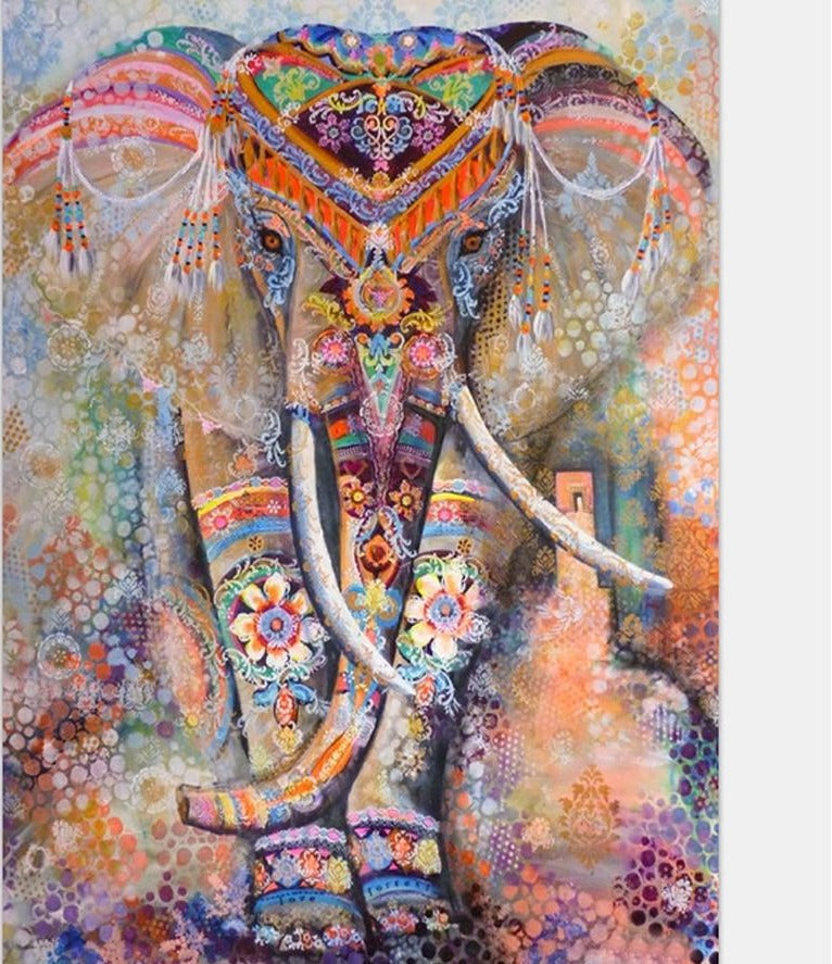 Tribal Elephant Diamond Painting - full drill, On Sale -Diamond Painting Kits, Diamond Paintings Store