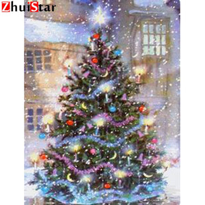 NEW Color Christmas Tree, 5D DIY Diamond Painting - On Sale -Diamond Painting Kits, Diamond Paintings Store