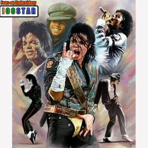 Michael Jackson Collectors Portrait 5D DIY Diamond Painting, Full Square / Round Drill Rhinestones Available -Diamond Paintings, Diamond Paintings Store
