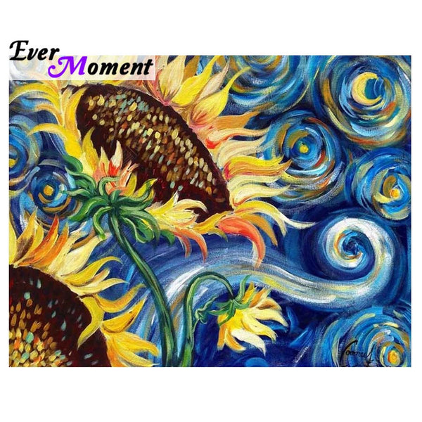 DIY 5D Sunflower Diamond Painting, Cross Stitch Full Square Drill -Diamond Paintings, Diamond Paintings Store