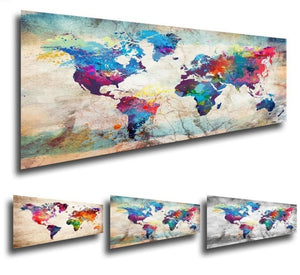 """Colorful World Map"" - 5D Diamond Painting Embroidery, Full Square Rhinestones - On Sale -Diamond Paintings, Diamond Paintings Store"