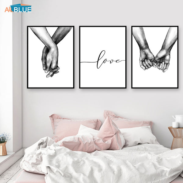 Holding Hands,  Canvas Prints -Love Quote -Diamond Paintings, Diamond Paintings Store