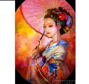 "Full Square/Round Drill 5D DIY Diamond Painting ""Japanese woman"" -Diamond Paintings, Diamond Paintings Store"