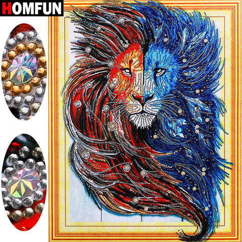 The Lion - Special Shaped DIY Diamond Painting- Stunning - On Sale -Diamond Paintings, Diamond Paintings Store