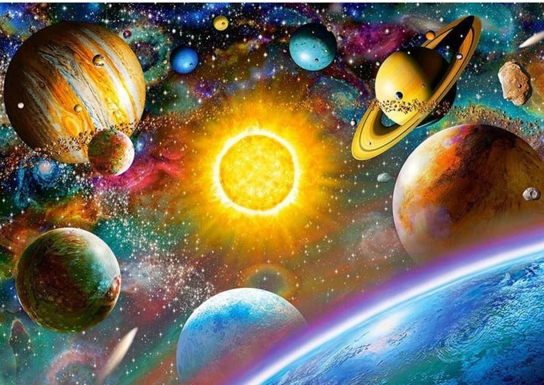 Space Planets, 5D Diamond Painting Kits,  Full Square/Round Drill Rhinestone Diamond Painting Art -Diamond Paintings, Diamond Paintings Store