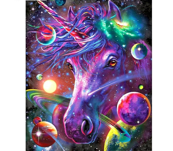 Cosmic Unicorn Color |  DIY Diamond Painting, Full Square/Round Drill Diamond Embroidery -Diamond Paintings, Diamond Paintings Store